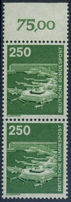 BUND 1982 Michel-Nummer 1137 postfrisch vert.PAAR RAND oben