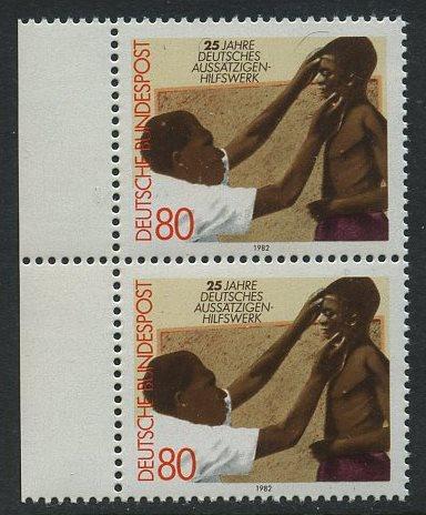 BUND 1982 Michel-Nummer 1146 postfrisch vert.PAAR RAND links