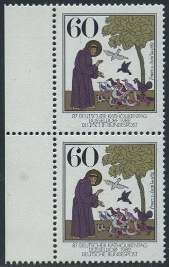 BUND 1982 Michel-Nummer 1149 postfrisch vert.PAAR RAND links