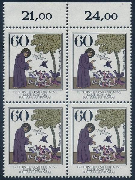 BUND 1982 Michel-Nummer 1149 postfrisch BLOCK RÄNDER oben