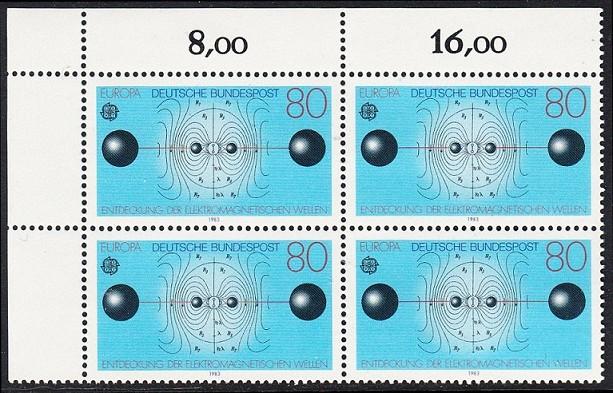 BUND 1983 Michel-Nummer 1176 postfrisch BLOCK ECKRAND oben links
