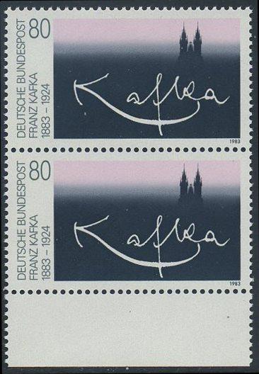 BUND 1983 Michel-Nummer 1178 postfrisch vert.PAAR RAND unten