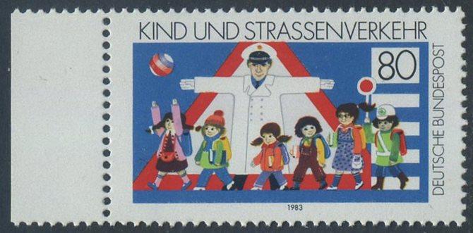 BUND 1983 Michel-Nummer 1181 postfrisch EINZELMARKE RAND links