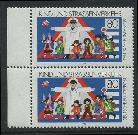 BUND 1983 Michel-Nummer 1181 postfrisch vert.PAAR RAND links