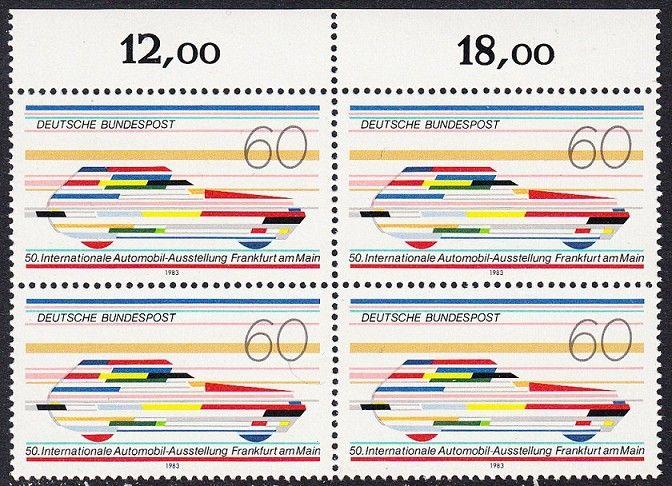 BUND 1983 Michel-Nummer 1182 postfrisch BLOCK RÄNDER oben (a)