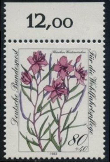 BUND 1983 Michel-Nummer 1190 postfrisch EINZELMARKE RAND oben