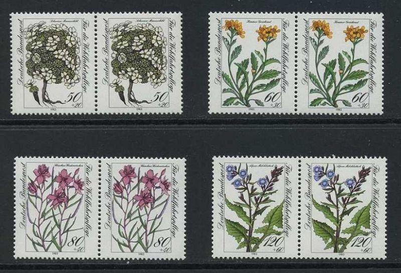 BUND 1983 Michel-Nummer 1188-1191 postfrisch SATZ(4) horiz.PAARE