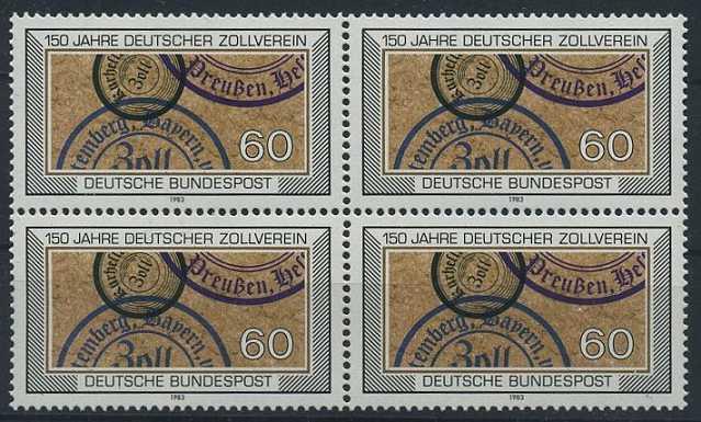 BUND 1983 Michel-Nummer 1195 postfrisch BLOCK