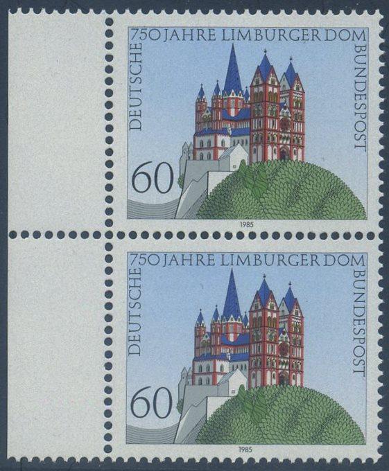 BUND 1985 Michel-Nummer 1250 postfrisch vert.PAAR RAND links
