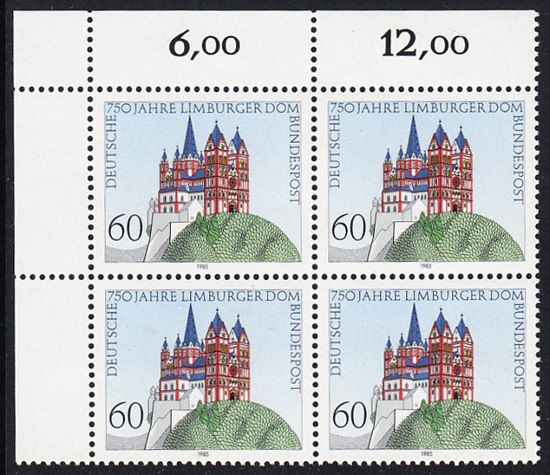BUND 1985 Michel-Nummer 1250 postfrisch BLOCK ECKRAND oben links