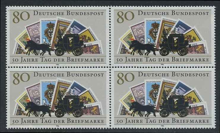 BUND 1986 Michel-Nummer 1300 postfrisch BLOCK