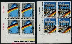 BUND 1990 Michel-Nummer 1481-1482 postfrisch SATZ(2) BLÖCKE ECKRAND unten links