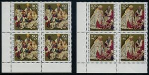 BUND 1992 Michel-Nummer 1639-1640 postfrisch SATZ(2) BLÖCKE ECKRAND unten links (93)