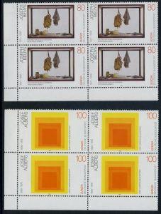 BUND 1993 Michel-Nummer 1673-1674 postfrisch SATZ(2) BLÖCKE ECKRAND unten links