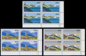 BUND 1993 Michel-Nummer 1684-1686 postfrisch SATZ(3) BLÖCKE ECKRAND unten rechts (FN/a)
