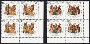 BUND 1993 Michel-Nummer 1707-1708 postfrisch SATZ(2) BLÖCKE ECKRAND unten rechts (FN)