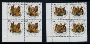 BUND 1993 Michel-Nummer 1707-1708 postfrisch SATZ(2) BLÖCKE ECKRAND unten links