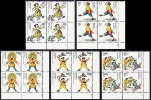 BUND 1994 Michel-Nummer 1726-1730 postfrisch SATZ(5) BLÖCKE ECKRAND unten rechts (FN)