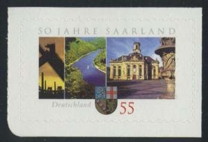 BUND 2007 Michel-Nummer 2595 postfrisch EINZELMARKE (d) -aus MH/selbstklebend-