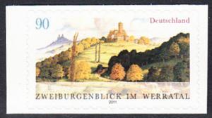 BUND 2011 Michel-Nummer 2856 postfrisch EINZELMARKE (a) -aus MH/selbstklebend-