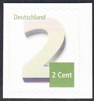 BUND 2013 Michel-Nummer 3045 postfrisch EINZELMARKE (b) -aus MH/selbstklebend-