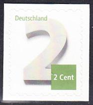 BUND 2013 Michel-Nummer 3045 postfrisch EINZELMARKE (a) -aus MH/selbstklebend-