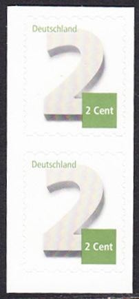 BUND 2013 Michel-Nummer 3045 postfrisch vert.PAAR (a) -aus MH/selbstklebend-