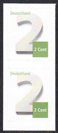BUND 2013 Michel-Nummer 3045 postfrisch vert.PAAR (b) -aus MH/selbstklebend-