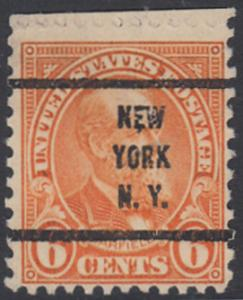 USA Michel 268 / Scott 558 postfrisch EINZELMARKE RAND oben precancelled - Persönlichkeiten und Landesmotive: James A. Garfield