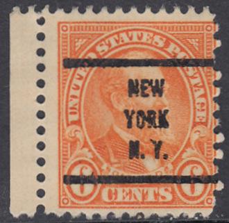 USA Michel 268 / Scott 558 postfrisch EINZELMARKE RAND links precancelled - Persönlichkeiten und Landesmotive: James A. Garfield