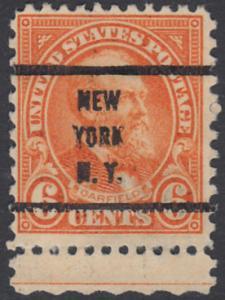 USA Michel 268 / Scott 558 mit Falzrest EINZELMARKE RAND unten precancelled - Persönlichkeiten und Landesmotive: James A. Garfield