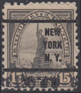 USA Michel 277 / Scott 566 postfrisch EINZELMARKE precancelled (a01) - Persönlichkeiten und Landesmotive: Freiheitsstatue, New York