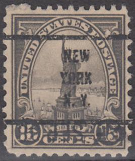 USA Michel 277 / Scott 566 postfrisch EINZELMARKE precancelled (a02) - Persönlichkeiten und Landesmotive: Freiheitsstatue, New York