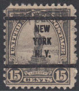 USA Michel 277 / Scott 566 postfrisch EINZELMARKE precancelled (a03) - Persönlichkeiten und Landesmotive: Freiheitsstatue, New York