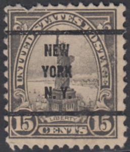 USA Michel 277 / Scott 566 postfrisch EINZELMARKE precancelled (a04) - Persönlichkeiten und Landesmotive: Freiheitsstatue, New York