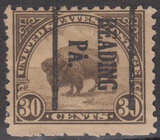 USA Michel 281 / Scott 569 mit Falzrest EINZELMARKE precancelled (a01) - Persönlichkeiten und Landesmotive: Bison