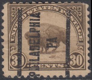 USA Michel 281 / Scott 569 mit Falzrest EINZELMARKE precancelled (a02) - Persönlichkeiten und Landesmotive: Bison