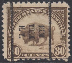 USA Michel 281 / Scott 569 postfrisch EINZELMARKE precancelled - Persönlichkeiten und Landesmotive: Bison