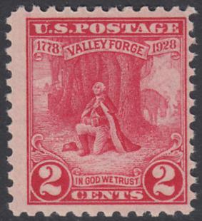 USA Michel 309 / Scott 645 postfrisch EINZELMARKE - 150. Jahrestag des Winterlagers der Armee von General Washington in Valley Forge