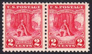 USA Michel 309 / Scott 645 postfrisch horiz.PAAR - 150. Jahrestag des Winterlagers der Armee von General Washington in Valley Forge
