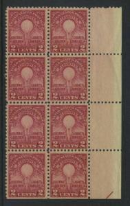 USA Michel 317 / Scott 655 postfrisch vert.BLOCK(8) RÄNDER rechts (unten  ungezähnt)  - 50. Jahrestag der Erfindung der elektrischen Glühlampe durch Thomas Alva Edison