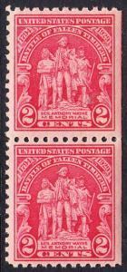USA Michel 319 / Scott 680 postfrisch vert.PAAR (rechts ungezähnt) - 135. Jahrestag der Schlacht von Fallen Timbers, Ohio