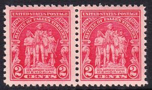USA Michel 319 / Scott 680 postfrisch horiz.PAAR (a1) - 135. Jahrestag der Schlacht von Fallen Timbers, Ohio