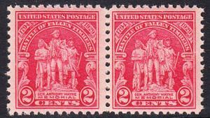 USA Michel 319 / Scott 680 postfrisch horiz.PAAR (a2) - 135. Jahrestag der Schlacht von Fallen Timbers, Ohio