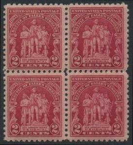 USA Michel 319 / Scott 680 postfrisch BLOCK (a3) - 135. Jahrestag der Schlacht von Fallen Timbers, Ohio