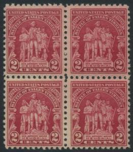 USA Michel 319 / Scott 680 postfrisch BLOCK (a5) - 135. Jahrestag der Schlacht von Fallen Timbers, Ohio