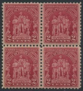 USA Michel 319 / Scott 680 postfrisch BLOCK (a6) - 135. Jahrestag der Schlacht von Fallen Timbers, Ohio