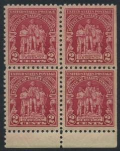 USA Michel 319 / Scott 680 postfrisch BLOCK RÄNDER unten (rechts ungezähnt) - 135. Jahrestag der Schlacht von Fallen Timbers, Ohio