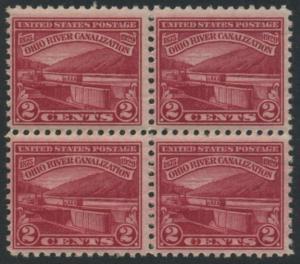 USA Michel 320 / Scott 681 postfrisch BLOCK - Vollendung der Ohio-Kanalisation zwischen Cairo, IL und Pittsburgh, PA