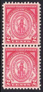 USA Michel 324 / Scott 682 postfrisch vert.PAAR - 300. Jahrestag der Gründung der Massachusetts Bay Colony